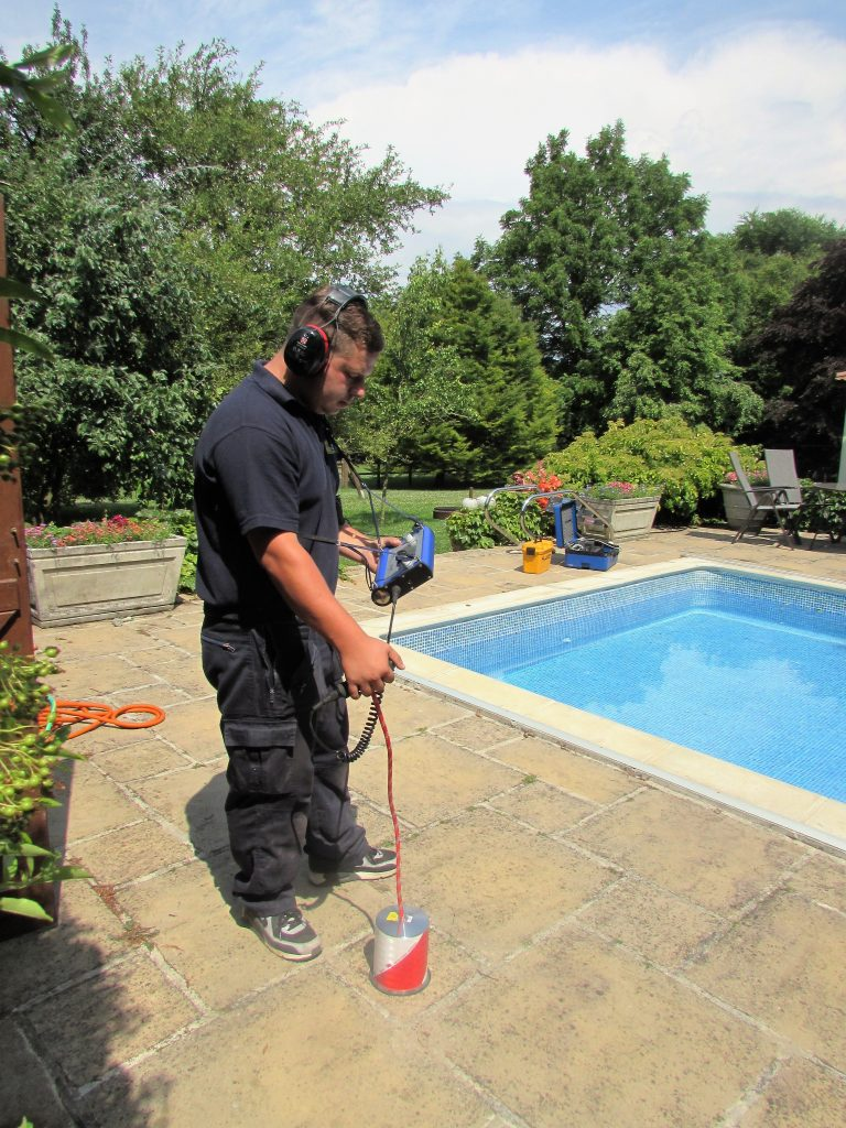 Poolside Leak detection