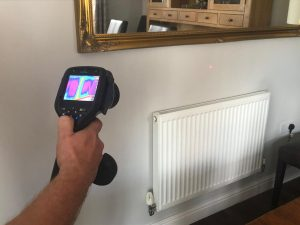 Thermal Imaging To Locate heating leak